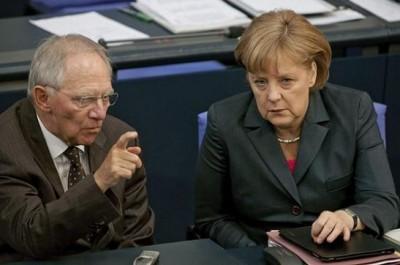 merkel, ministro das finaças alemão, austeros, enervam