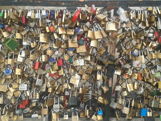 amor, cadeados, eterno, sincero