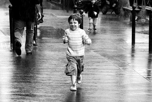 correr à chuva, chuva, Verão