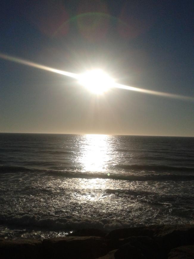 por do sol, praia, final de semana