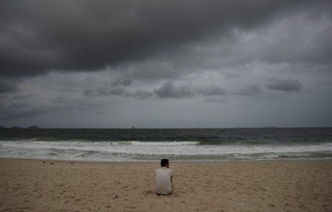 praia, verão, atraso, inverno, escuro